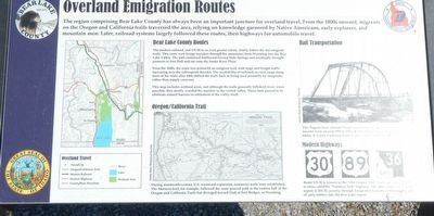 Overland Emigration Routes Marker image. Click for full size.