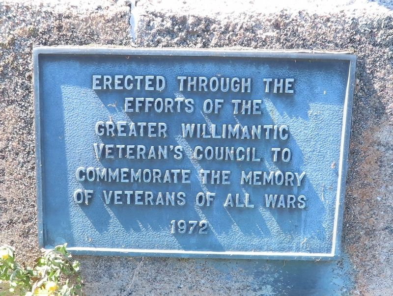 Willimantic Veterans Council Memorial image. Click for full size.