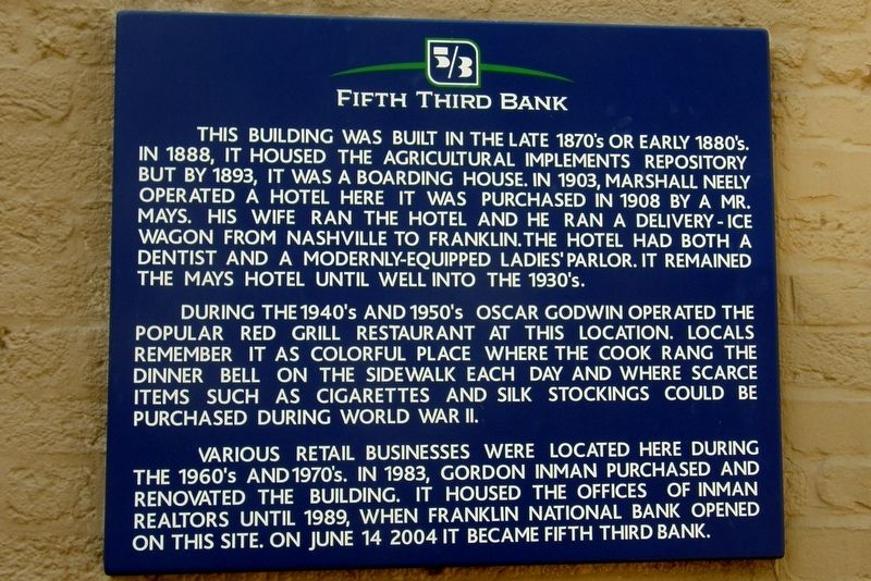 Fifth Third Bank Marker image. Click for full size.