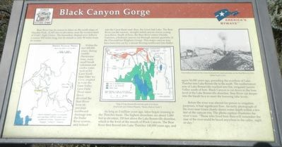 Black Canyon Gorge Marker image. Click for full size.