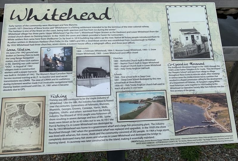 Whitehead Marker image. Click for full size.