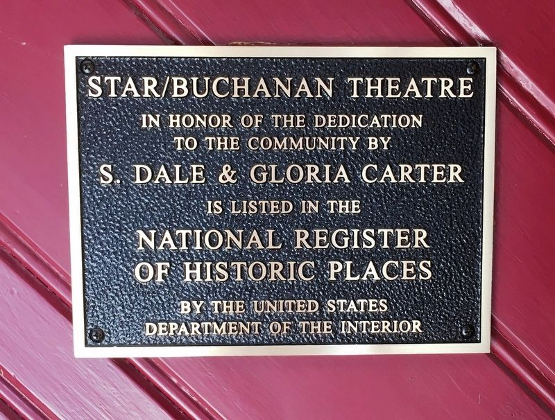Star/Buchanan Theatre Marker image. Click for full size.