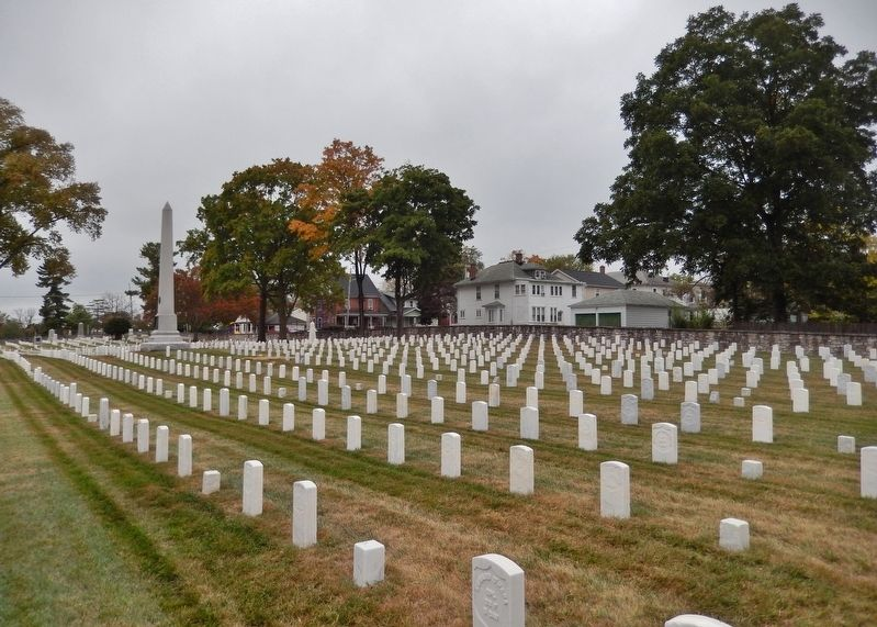 Winchester National Cemetery<br>(<i>view from near marker</i>) image. Click for full size.