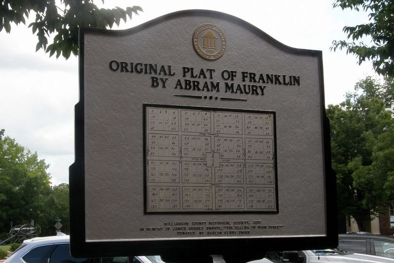 Franklin Downtown Historic District Marker image. Click for full size.