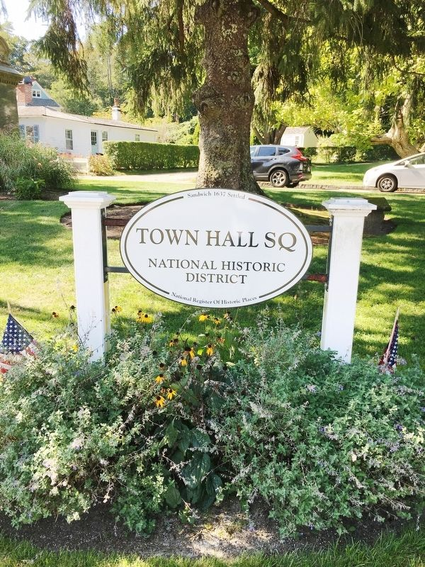 Sandwich Town Hall Square - National Historic District image. Click for full size.