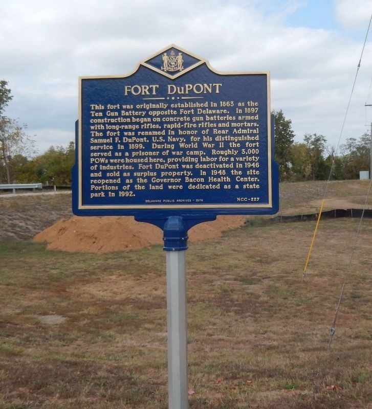 Nearby Fort DuPont-Historical Marker image. Click for full size.