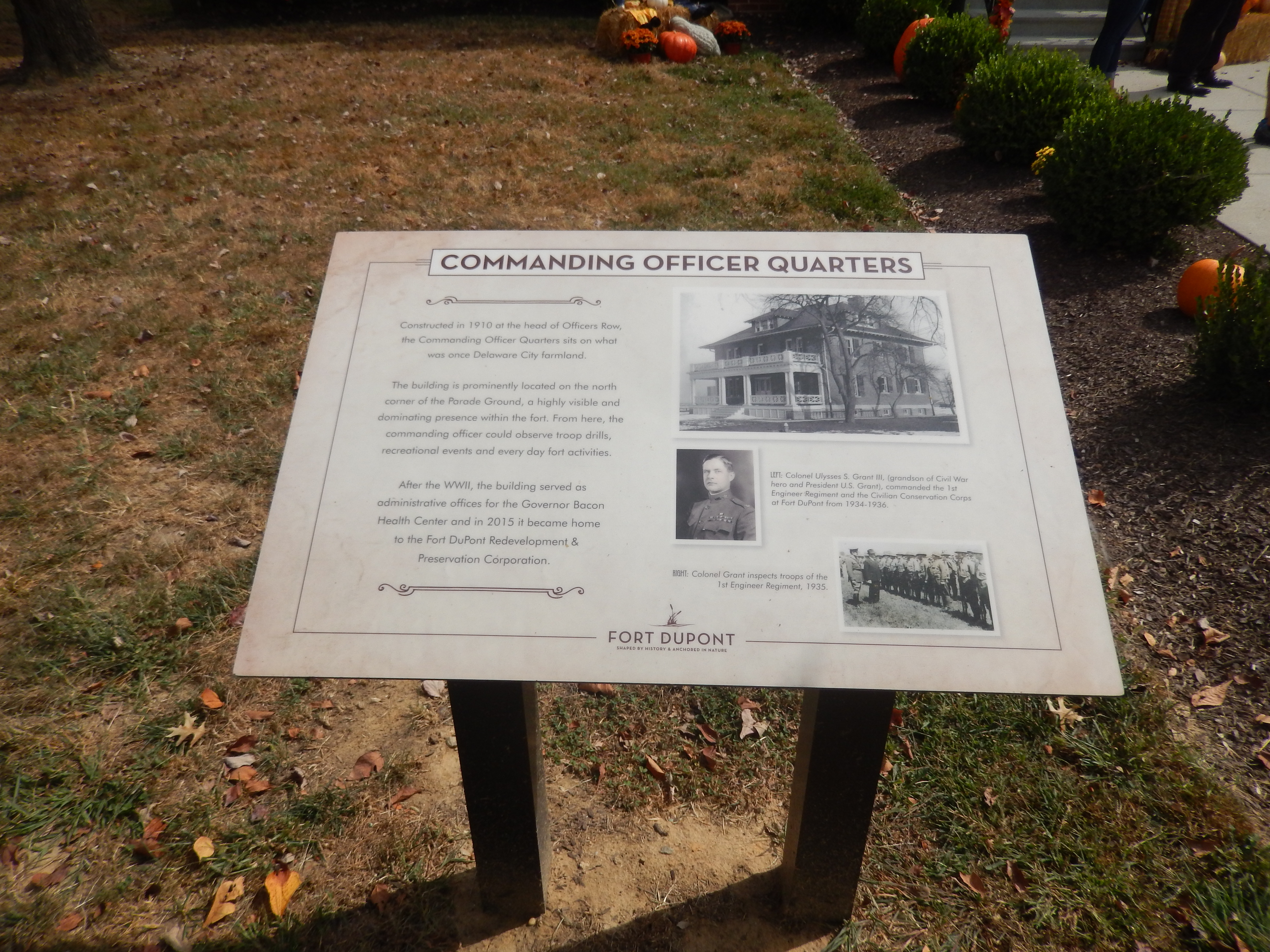 Commanding Officer Quarters Marker