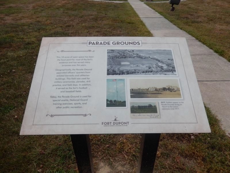 Parade Grounds Marker image. Click for full size.