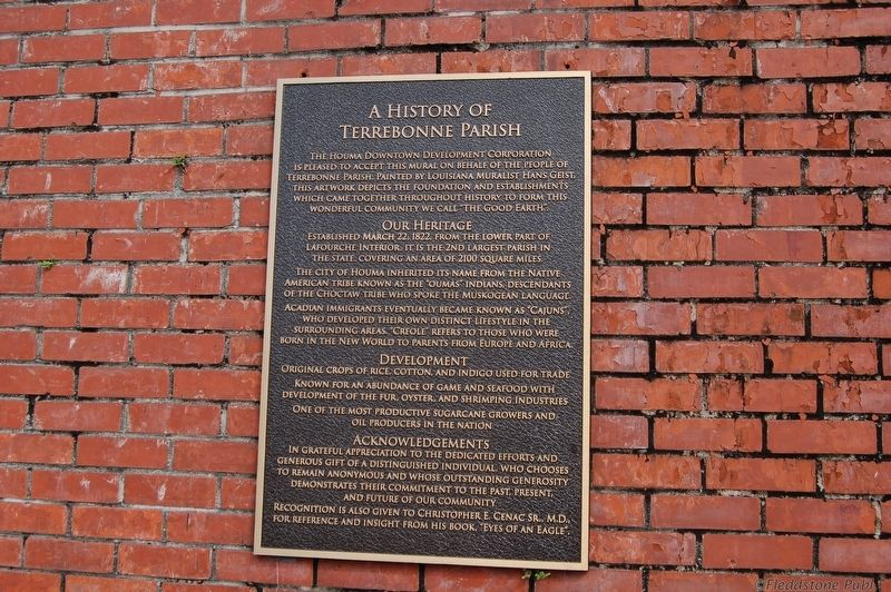 A History of Terrebonne Parish Marker image. Click for full size.