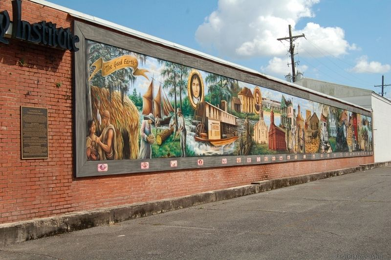 A History of Terrebonne Parish Marker amd Mural image. Click for full size.