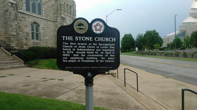 The Stone Church Marker image. Click for full size.