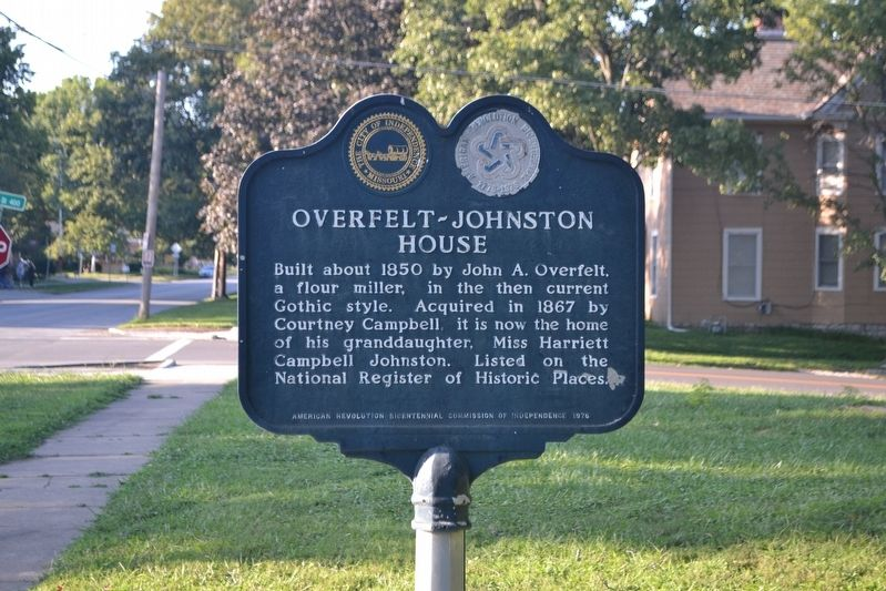 Overfelt-Johnston House Marker image. Click for full size.