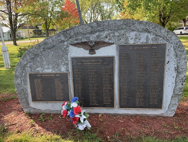Canaan Vermont War Memorials Marker image. Click for full size.
