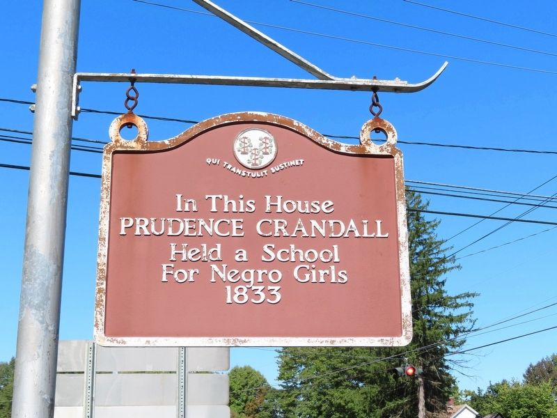 Prudence Crandall School Marker image. Click for full size.