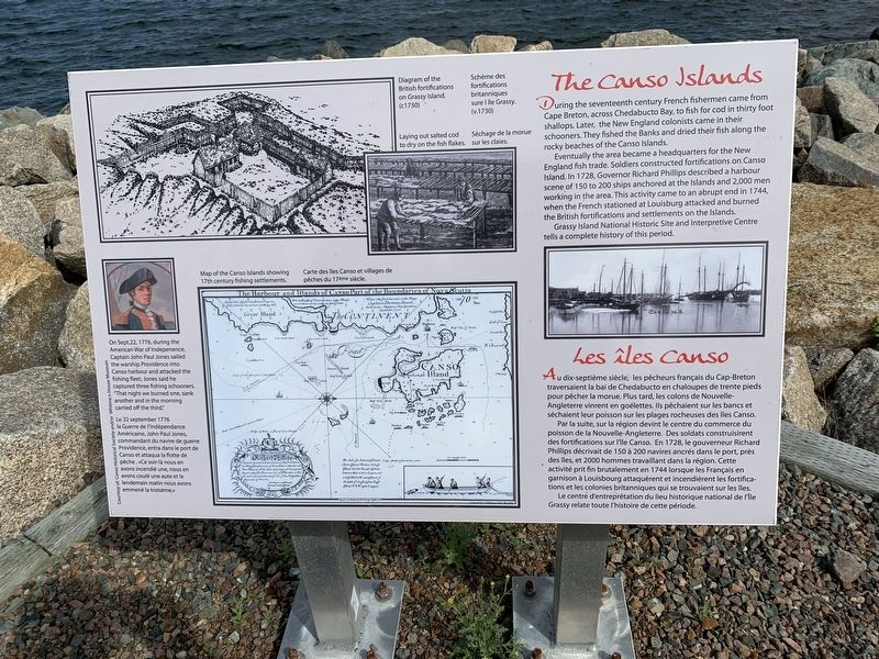 The Canso Islands Marker image. Click for full size.