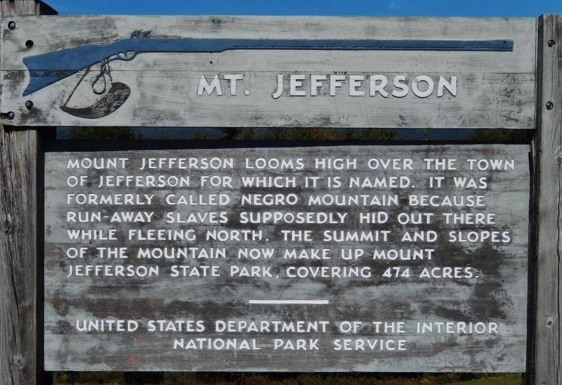 Mt. Jefferson Marker image. Click for full size.