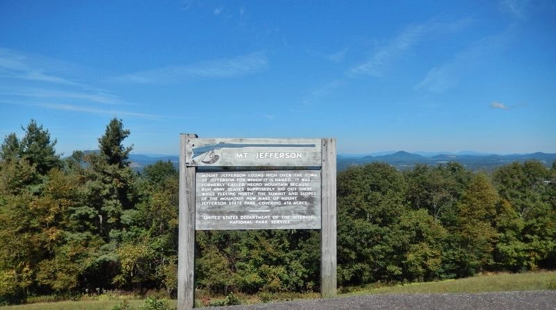 Mt. Jefferson Marker (<i>wide view</i>) image. Click for full size.