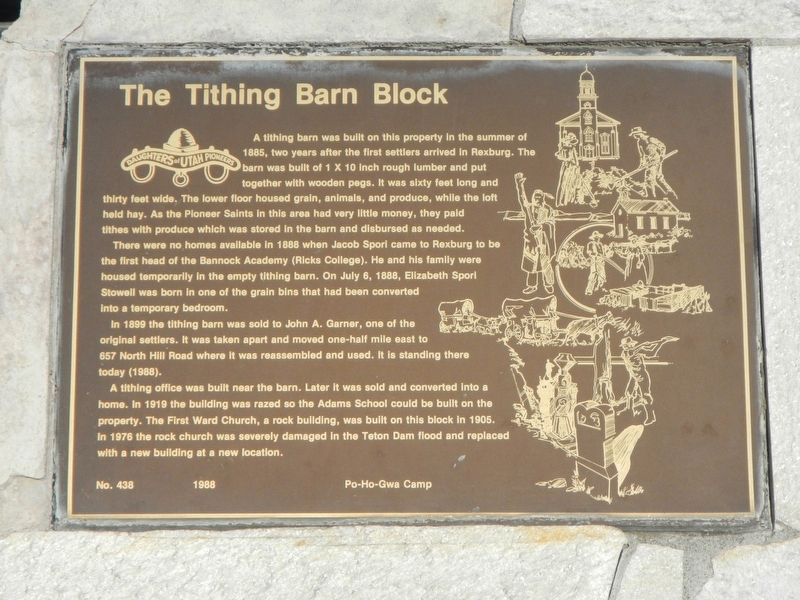 The Tithing Barn Block Marker image. Click for full size.