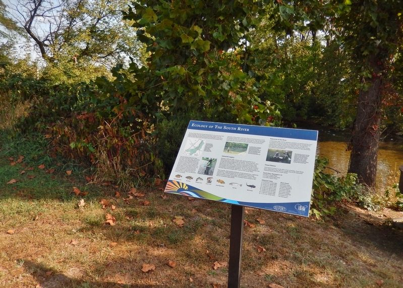 Ecology of the South River Marker<br>(<i>wide view • South River in background</i>) image. Click for full size.