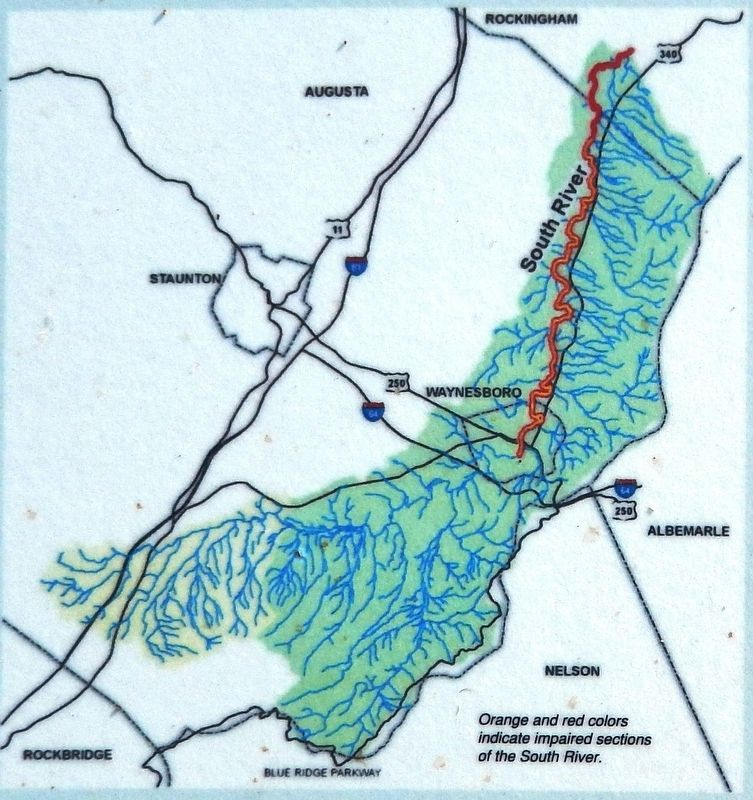 Marker detail: South River watershed image. Click for full size.