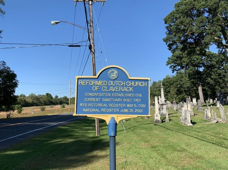 Reformed Dutch Church of Claverack Marker image. Click for full size.
