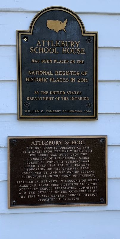Attlebury School Marker image. Click for full size.
