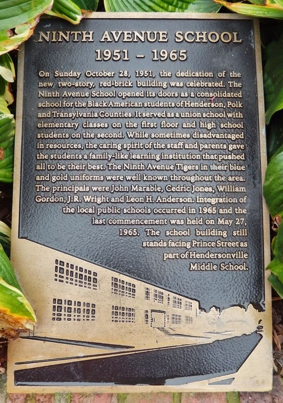 Ninth Avenue School Marker image. Click for full size.
