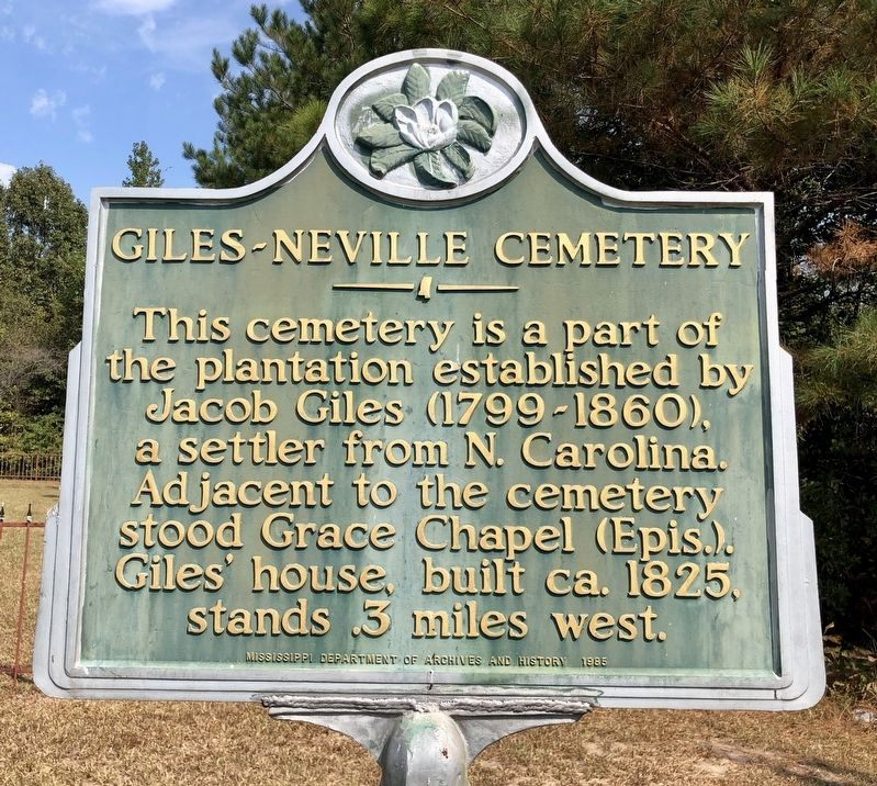 Giles-Neville Cemetery Marker image. Click for full size.