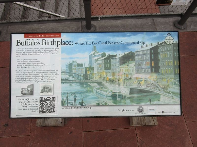 Buffalo's Birthplace Marker image. Click for full size.