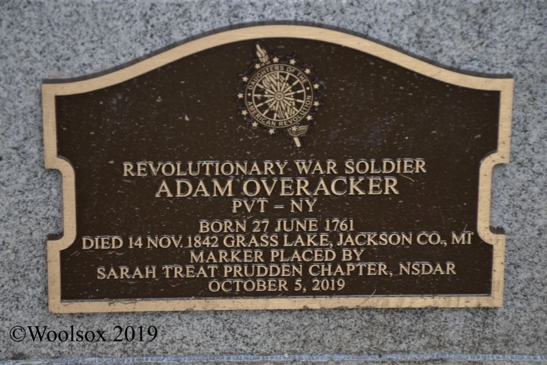 Adam Overacker - Revolutionary War Soldier Marker image. Click for full size.