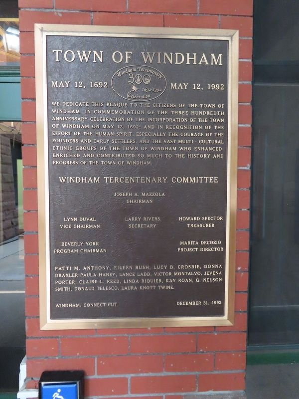 Windham Tercentenary Marker image. Click for full size.