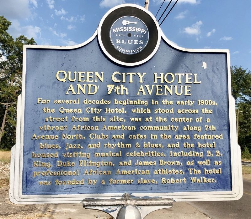 Queen City Hotel and 7th Avenue Marker (front) image. Click for full size.