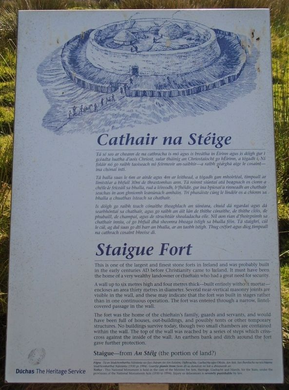 Cathair na Stéige / Staigue Fort Marker image. Click for full size.