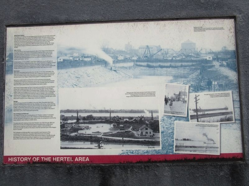 History of the Hertel Area image. Click for full size.