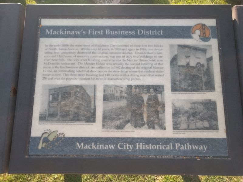 Mackinaw's First Business District Marker image. Click for full size.