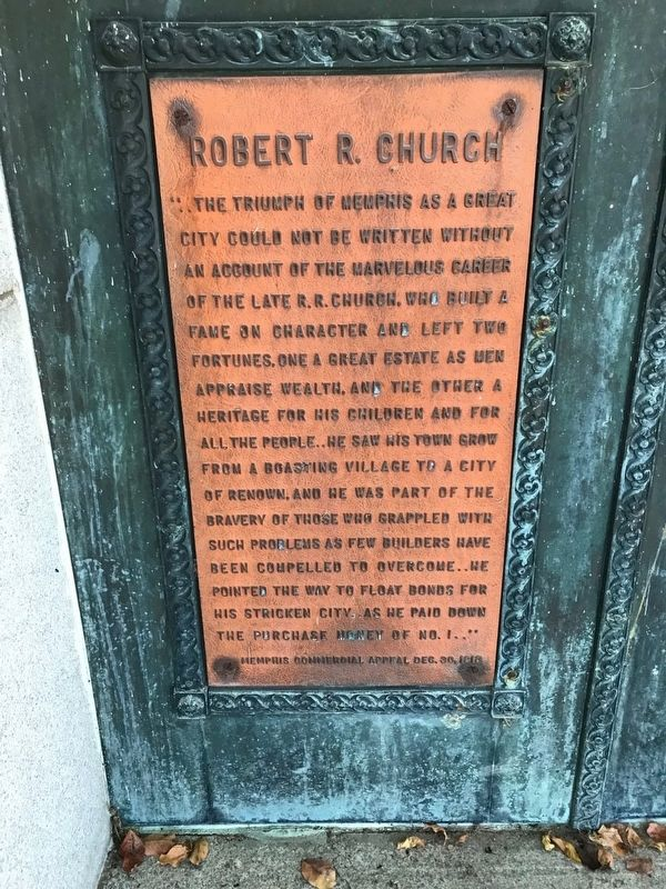 Robert R. Church Marker image. Click for full size.