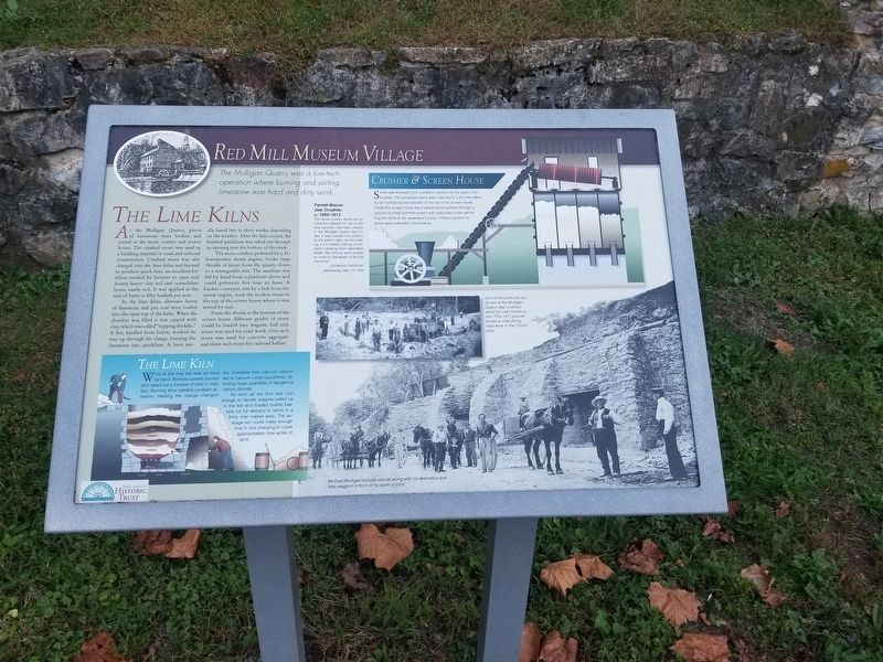 The Lime Kilns Marker image. Click for full size.