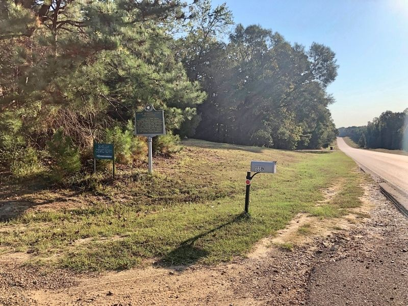 View from marker looking east on MS-12. image. Click for full size.