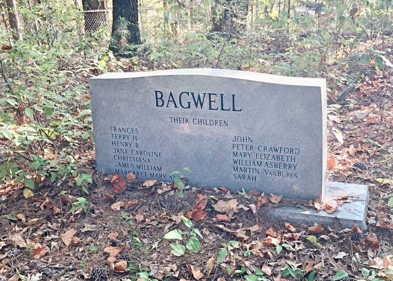 Bagwell family noted on marker. image. Click for full size.