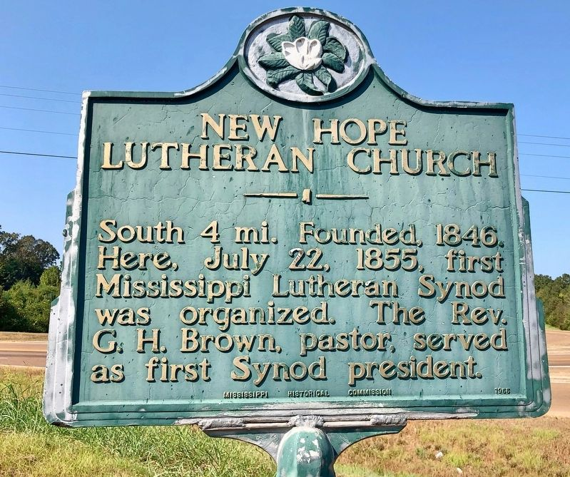 New Hope Lutheran Church Marker image. Click for full size.