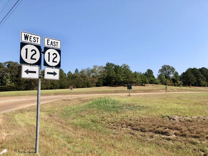 New Hope Lutheran Church Marker looking east on MS-12. image. Click for full size.