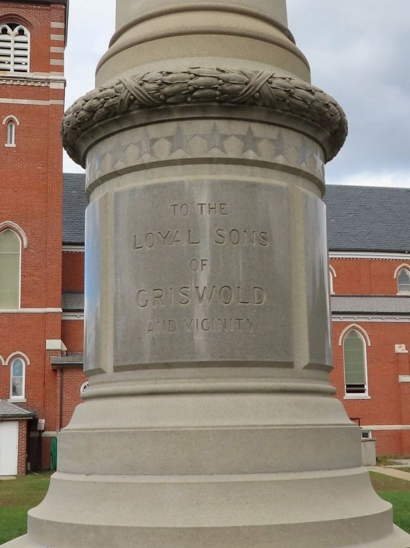 Griswold Civil War Monument image. Click for full size.