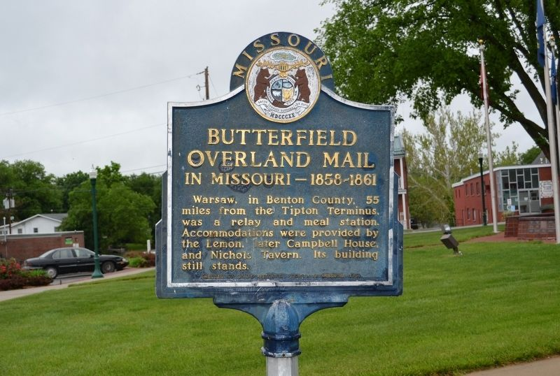 Butterfield Overland Mail in Missouri- 1858-1861 Marker image. Click for full size.
