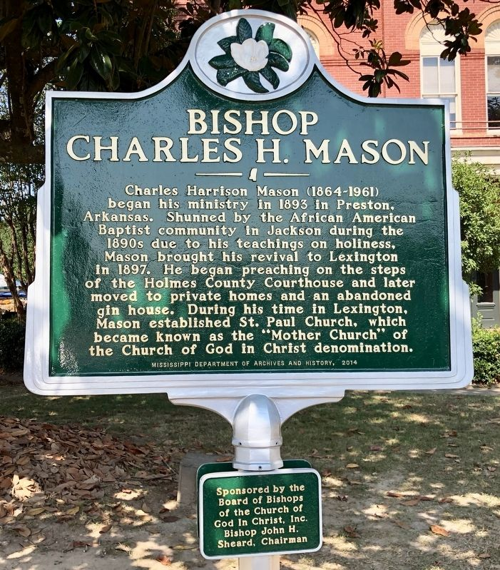 Bishop Charles H. Mason Marker image. Click for full size.