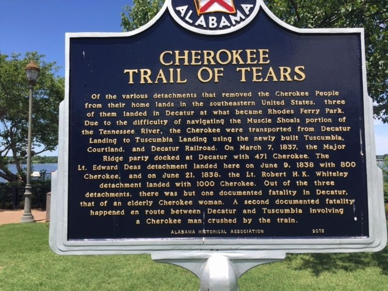 Cherokee Trail Of Tears Marker image. Click for full size.
