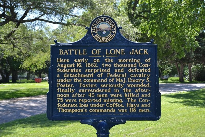 Battle of Lone Jack Marker image. Click for full size.