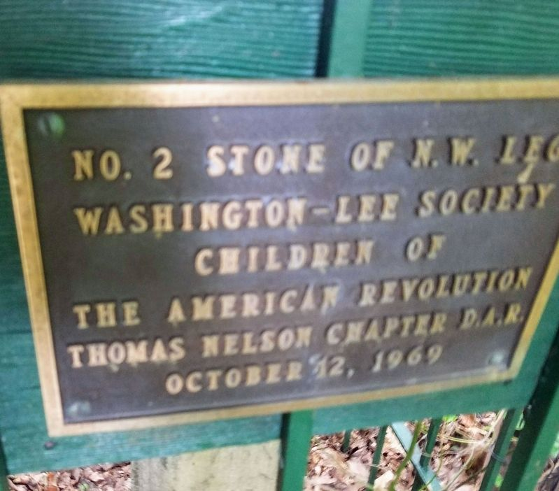 Original Federal Boundary Stone, District of Columbia, Northwest 2 Marker image. Click for full size.