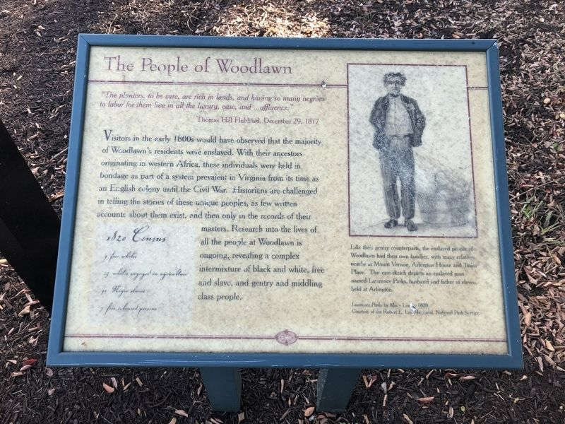 The People of Woodlawn Marker image. Click for full size.