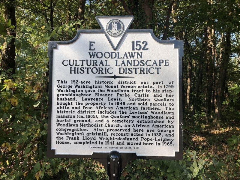Woodlawn Cultural Landscape Historic District Marker image. Click for full size.