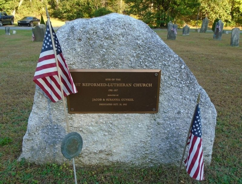 Site of the 1st Reformed-Lutheran Church Marker image. Click for full size.
